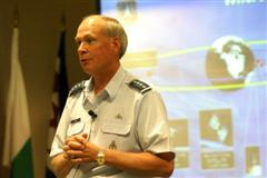 General Lance W. Lord, commander of U.S. Air Force Space Command addresses APSS Fellows.