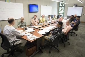 Senior leaders from Asia-Pacific nations take part in a seminar session during the Transnational Security Cooperation course (TSC 15-2) at the Daniel K. Inouye Asia-Pacific Center for Security Studies.