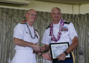 "Lt. Col. Don Peterson receives the ""Federal Supervisor or the Year"" award photo."