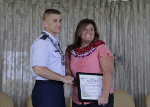 "Michelle L. Donaldson receives the ""Federal Employee of the Year – Clerical and Assistant award photo"