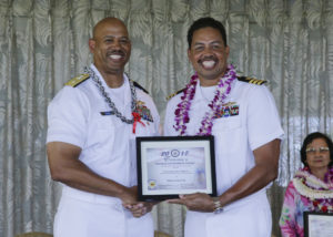 "Cmdr James Matthews, head of Resource Management at DKI APCSS, is recognized as ""Mentor of the Year"" photo."